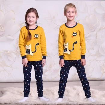 """Детская пижама для детей из 2 предметов """"Голодный кот"""""""