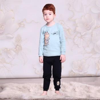 """Детская пижама для детей из 2 предметов """"Добрый динозавр"""""""
