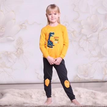 """Детская пижама для детей из 2 предметов """"Забавный динозавр"""""""