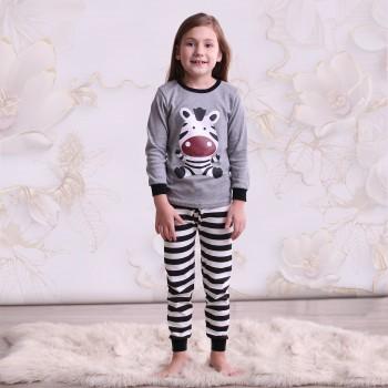 """Детская пижама для детей из 2 предметов """"Забавная зебра"""""""