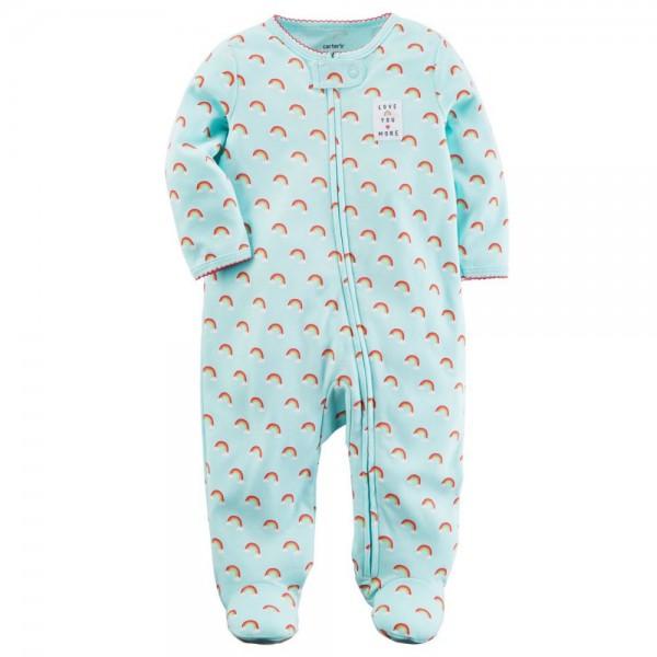 """Слип хлопковый для новорожденной девочки """"Маленькие радуги"""""""