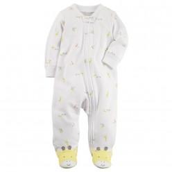 """Слип хлопковый для новорожденного """"Солнечный жирафик"""""""