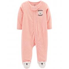 """Слип махровый для новорожденной девочки розовый """"Маленькая коала"""""""