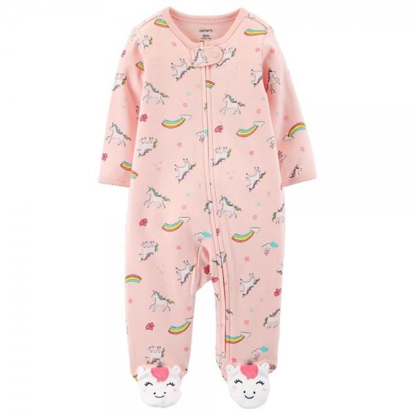 """Слип хлопковый для новорожденной девочки розовый """"Маленькие радуги Дэш"""""""