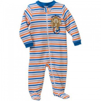 """Слип хлопковый для новорожденного мальчика """"Маленькая обезьянка"""""""