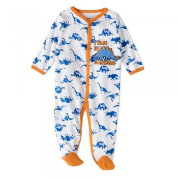 """Слип хлопковый для новорожденного мальчика """"Няшные динозавры"""""""