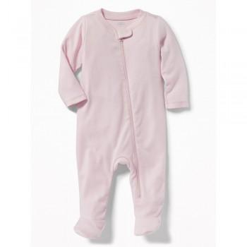 """Слип хлопковый для новорожденной розовый """"Сладкий сон - 2"""""""