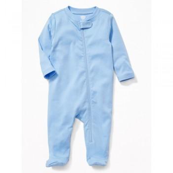 """Слип хлопковый для новорожденного синий """"Сладкий сон - 2"""""""