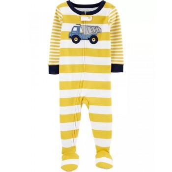 "Слип хлопковый для малыша желтый ""Тяжелый грузовик"""