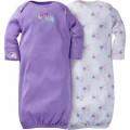 """Набор из 2 слипов-спальников хлопковых для новорожденной девочки """"Милые слоники"""""""