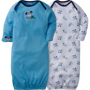 """Набор из 2 слипов-спальников хлопковых для новорожденного мальчика """"Игривый песик"""""""